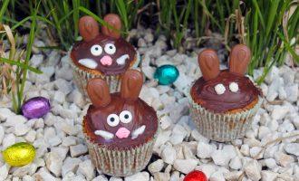Karitten-Cupcakes mit Hasen-Deko